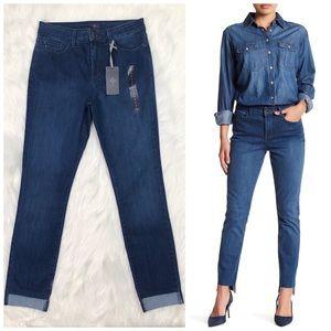 NYDJ Alina Raw Step Hem Jeans Legging Size 8 New